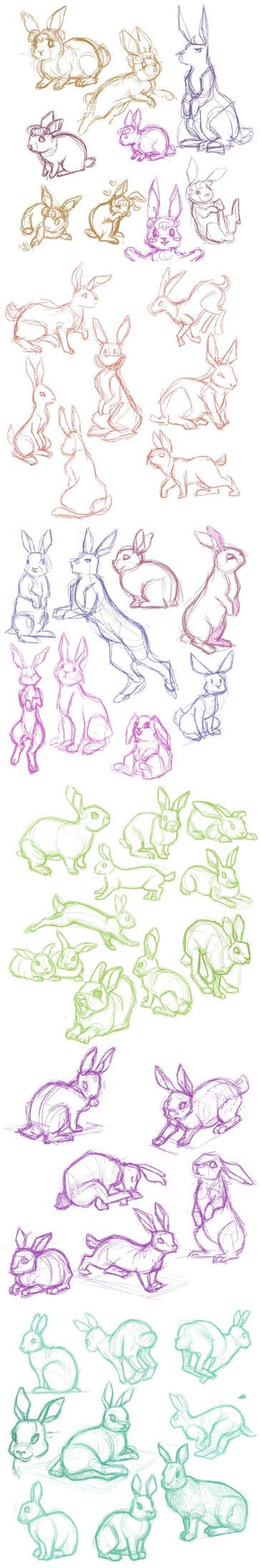 Bunnies by Annorelka