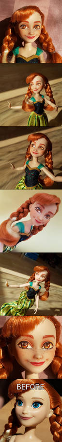 Doll Repaint: Anna from Frozen (gift)