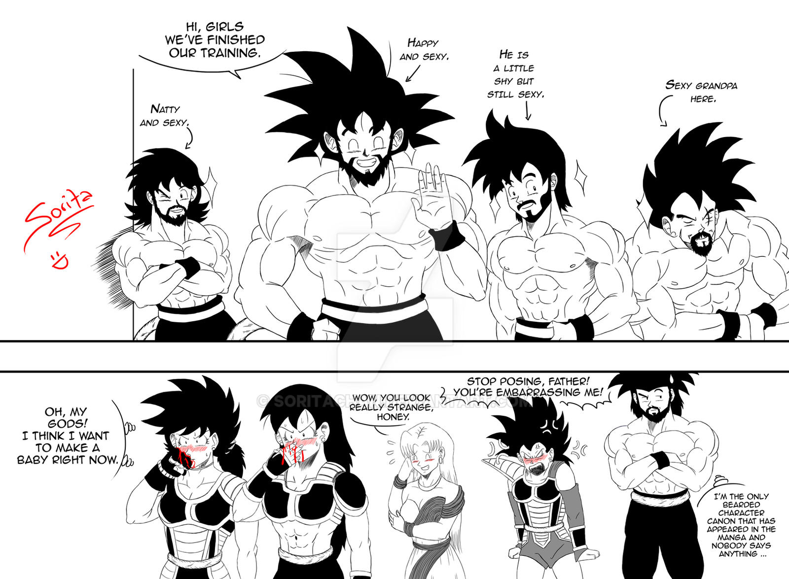 Anime Beard: When A Saiyan Gets A Beard By SoritaChan On DeviantArt