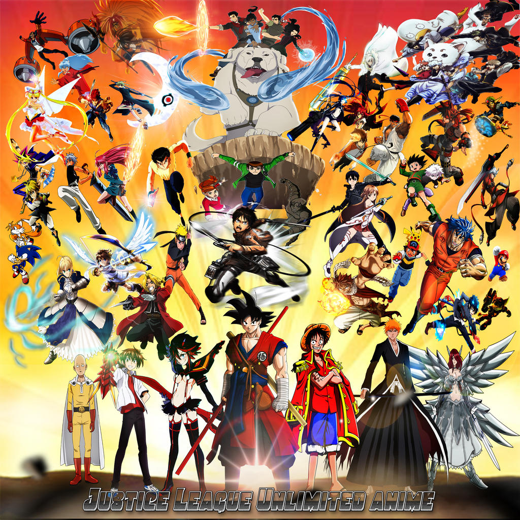 Cartoon Characters Justice League : Justice league unlimited of anime by yugioh on deviantart