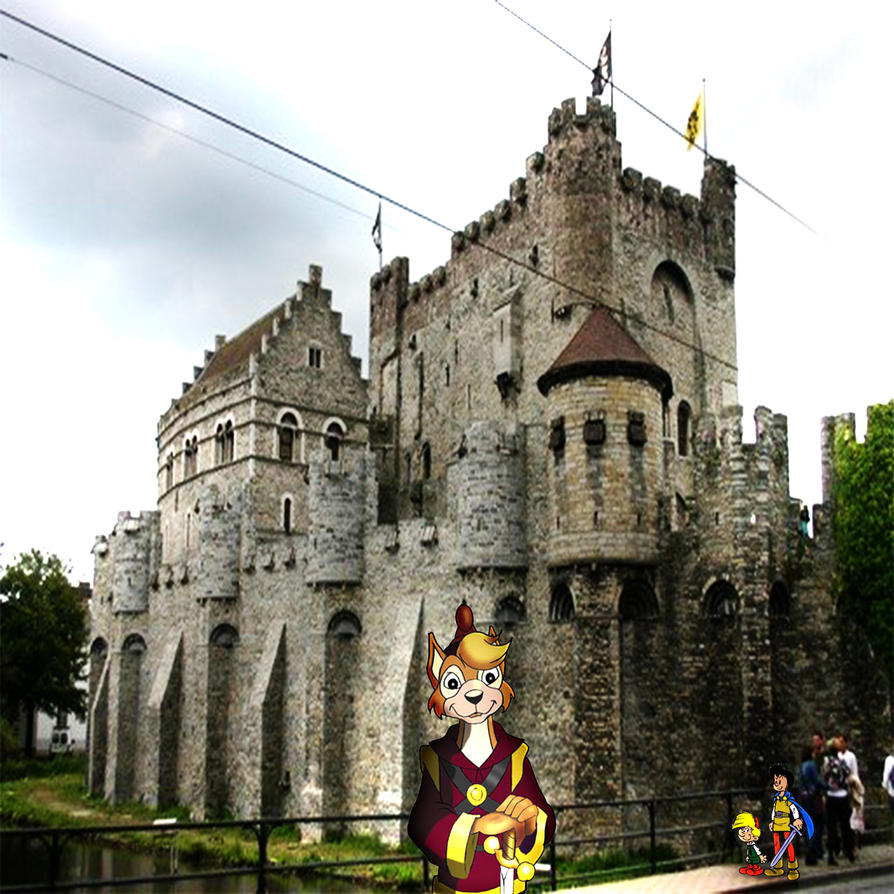 The Exploring of Old Castle with Friends by yugioh1985