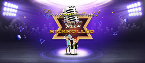 Congratulations, You've Been RICKROLLED by yugioh1985