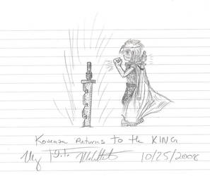 Kouenza Returns to the King