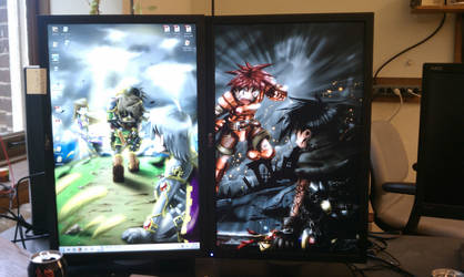 Desktop Background at Work by WingMcCallister