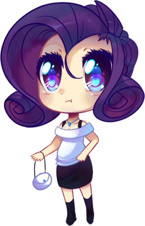 Humanized Rarity chibi by pekou on DeviantArt