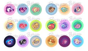 Bronycon - My Little Chubbies Button Set 1 by pekou