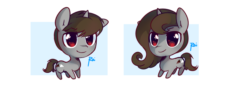 ChibiPonies - Seeker and Gazer by pekou