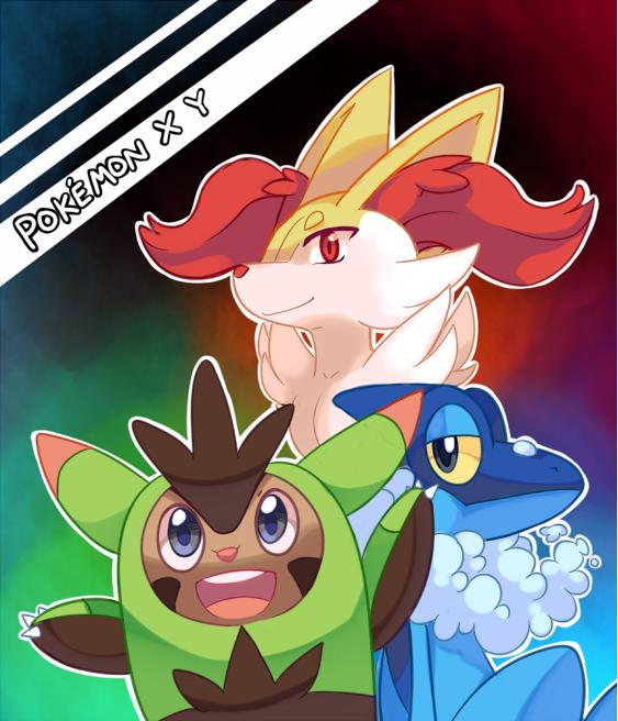 Pokémon X et Y Nouveautés ! Donnez votre avis ! Pokemon_x_and_y_second_evolution_starters_by_pekou-d6lx2ri