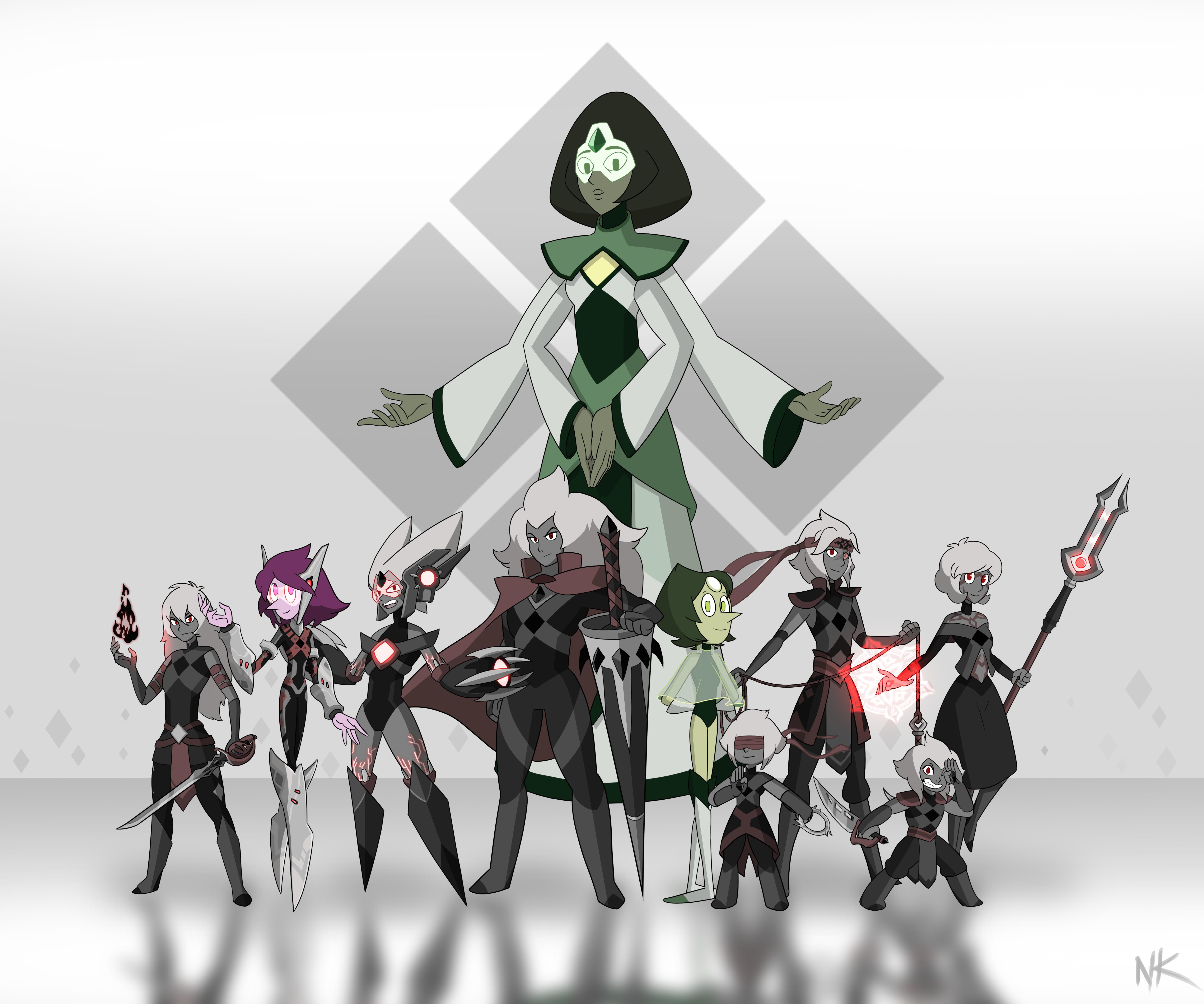 Torbernite's Family by TheGraffitiSoul