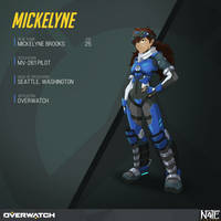 Mickelyne Overwatch Pilot Commission by TheGraffitiSoul