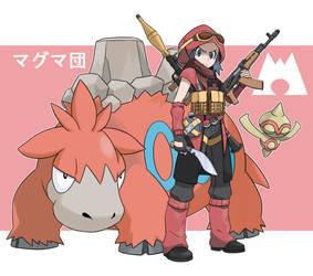 Pokemon Rearmed Team Magma Grunt by TheGraffitiSoul
