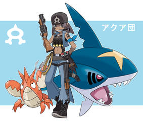 Pokemon Rearmed Team Aqua Grunt by TheGraffitiSoul