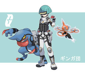 Pokemon Rearmed Team Galactic Grunt by TheGraffitiSoul