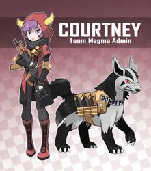 Magma Admin Courtney (Pokemon Rearmed Commission) by TheGraffitiSoul