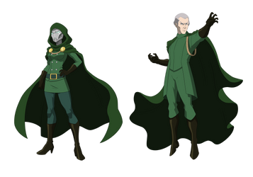 Doom and Magneto: Monarchs of Latveria Commission by TheGraffitiSoul