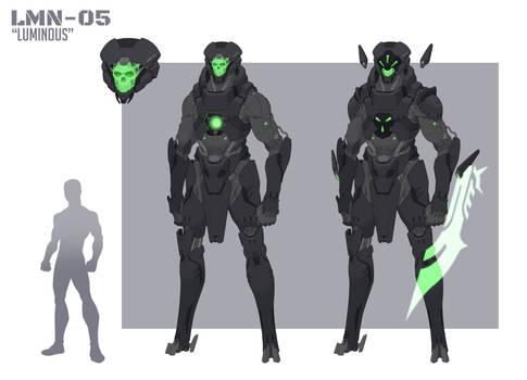 Luminous - Robot OC Patron Redesign Commission