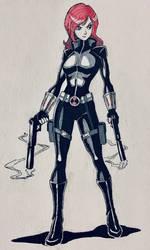 Inktober 2019 Day 7 - Black Widow