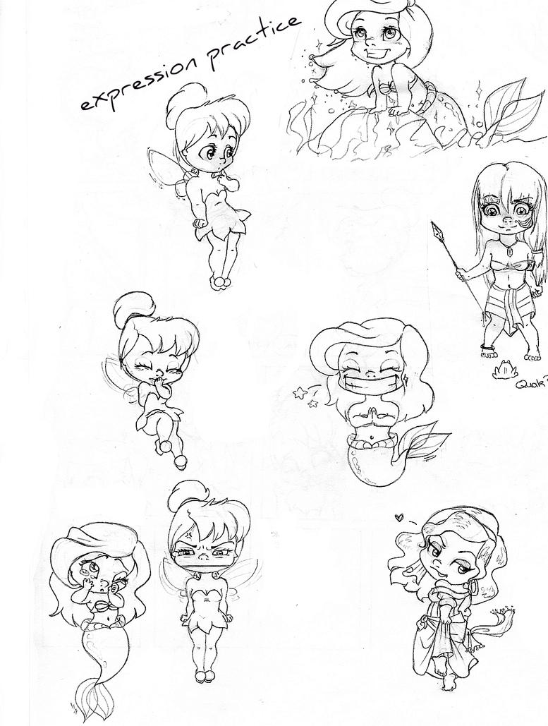 disney chibis coloring pages - photo#31
