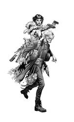LIL'ANNIEandFatherJoe-wheatley by Doug-Wheatley