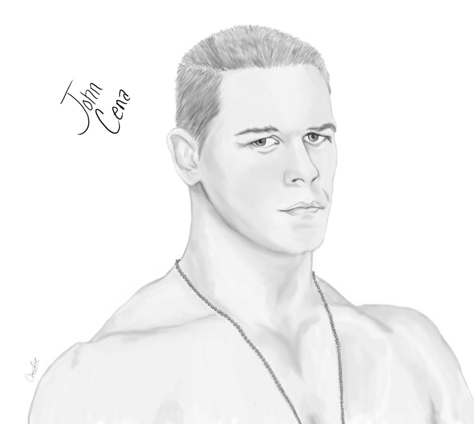john cena sketch by halibel07 on deviantart