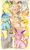 Eeveelutions by kimixiii