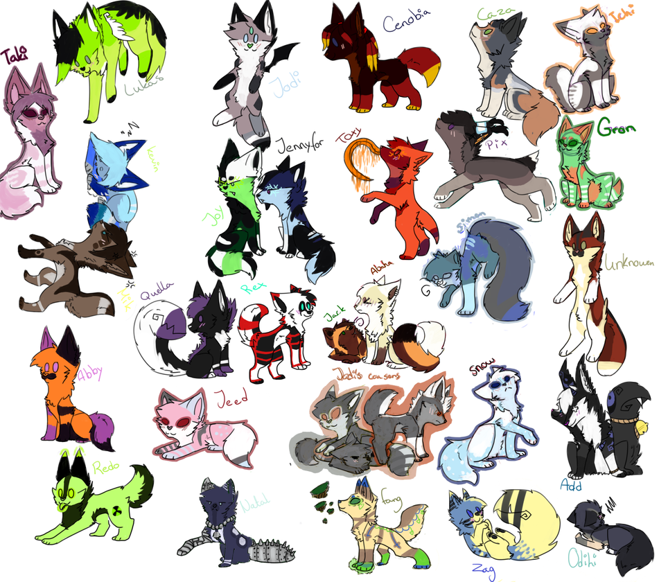 Art further Megapost De Sprites De Varios Personajes Parte 2 likewise Wolf Ocs Chibi 432991697 furthermore Fakemon Starters 257088535 also Relicanth Evolution Chart. on free dog sprite