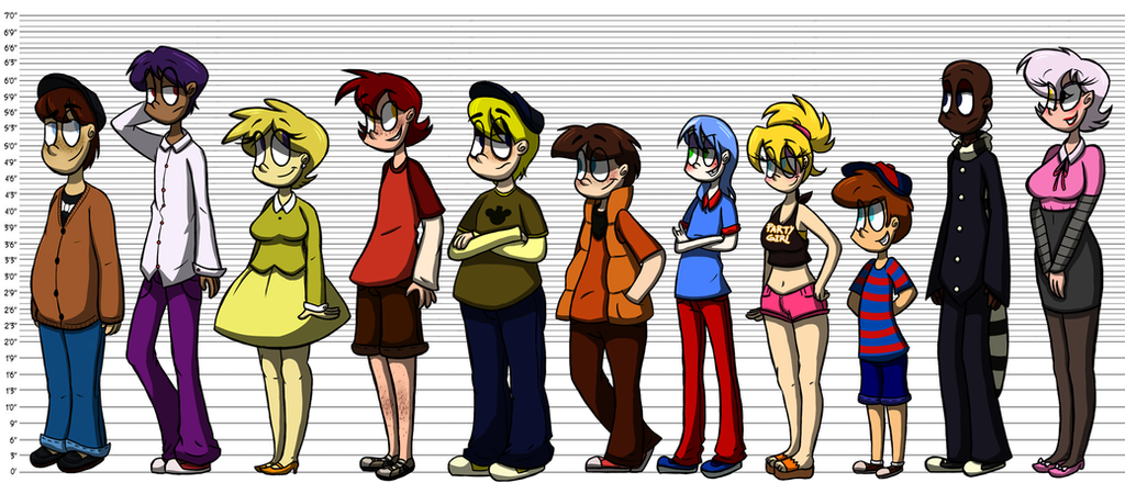 Fnaf height reference by azulmimi99 on deviantart