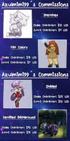 Commissions Price List