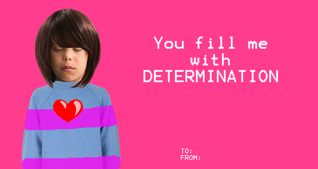 Undertale Valentines CardsFrisk by azulmimi99 on DeviantArt – To from Valentine Cards