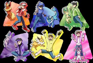 Pokemon Trainers Matsuno! [Speedpaint] by azulmimi99