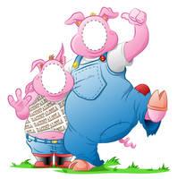 Piggy peep through by GabrielChoquette