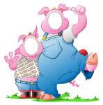 Piggy peep through