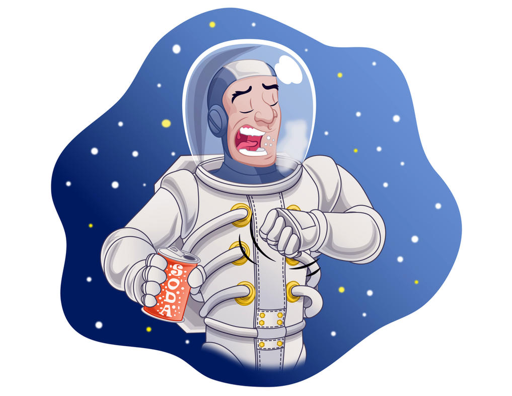 It is impossible to burp in space by Sezuko704