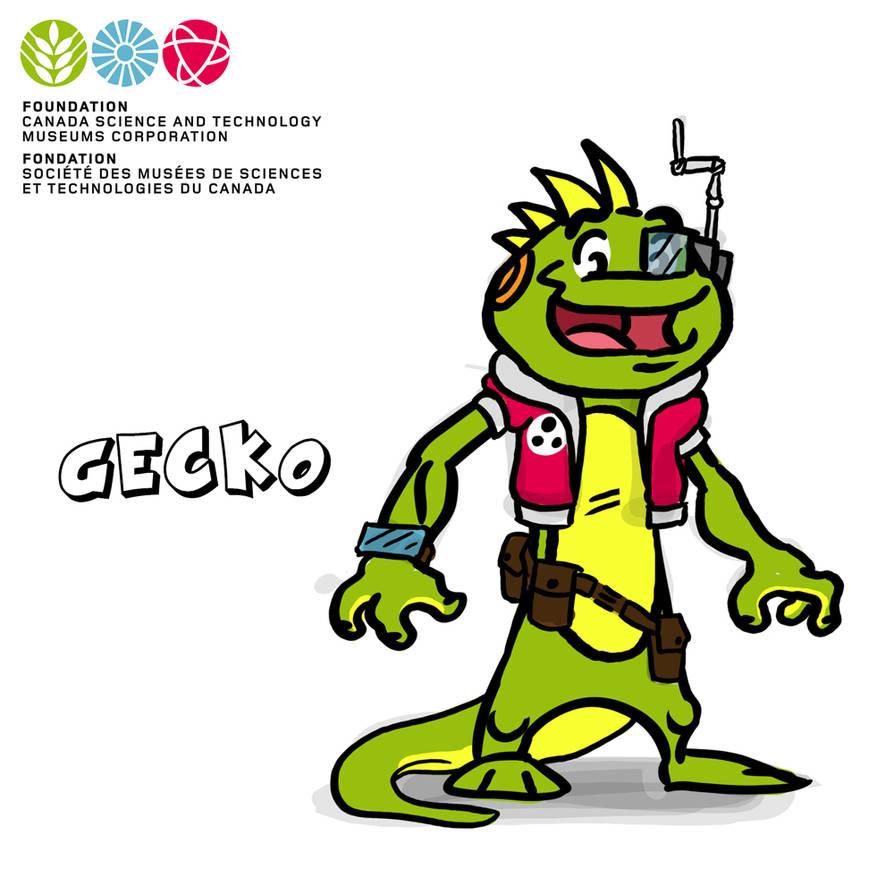 Mascot Concept Gecko by GabrielChoquette