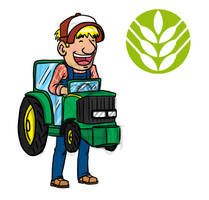Tractor Farmer Mascott concept by GabrielChoquette