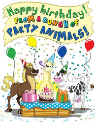 Birthday Animals by GabrielChoquette