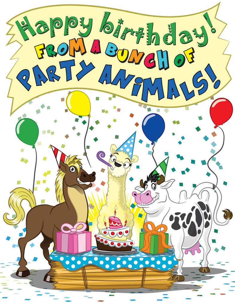 Birthday Animals by GabrielChoquette