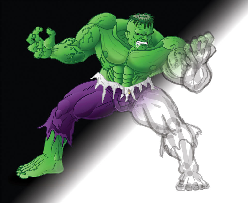 Hulk sketch clean by GabrielChoquette