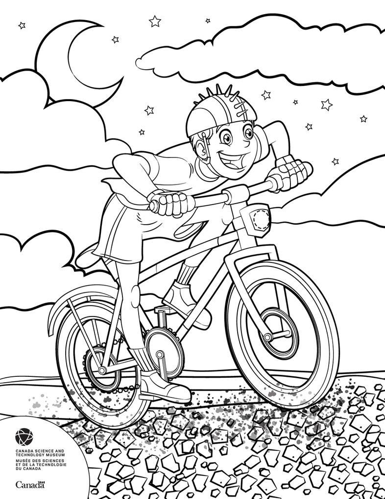 Kid on bike by Sezuko704