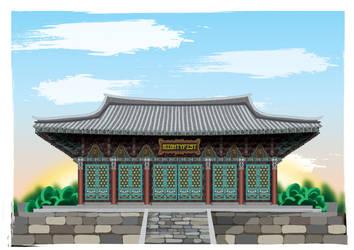 Korean Temple by GabrielChoquette