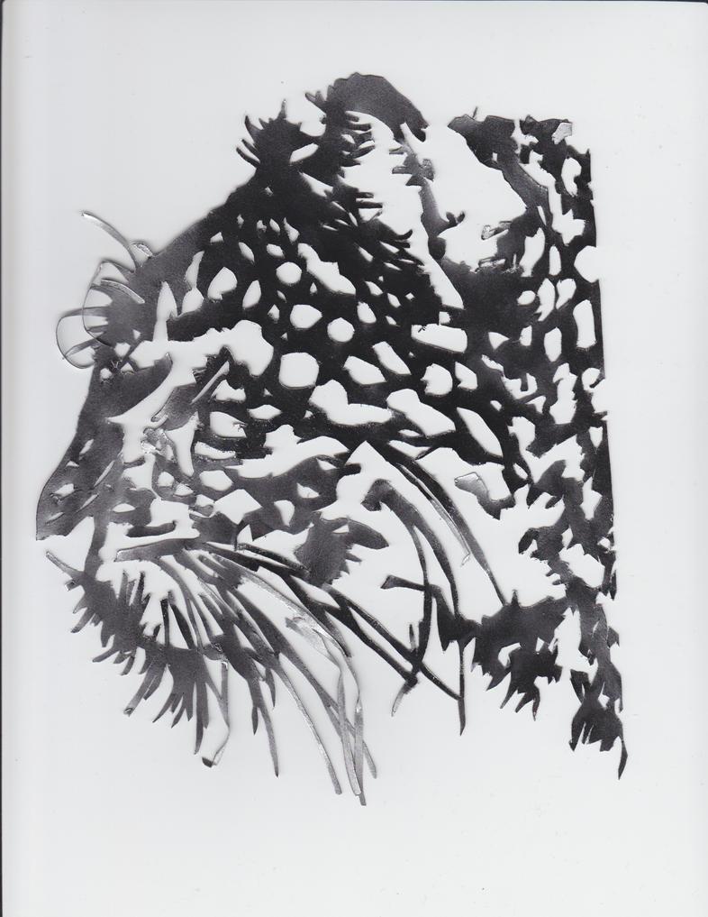 Leopard stencil on canvas by alexandria19 on DeviantArt