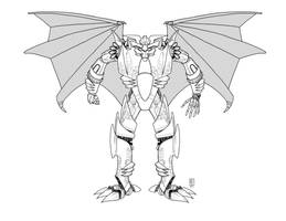 WIP - Predaking Redesign 2 by PainthatImausedto