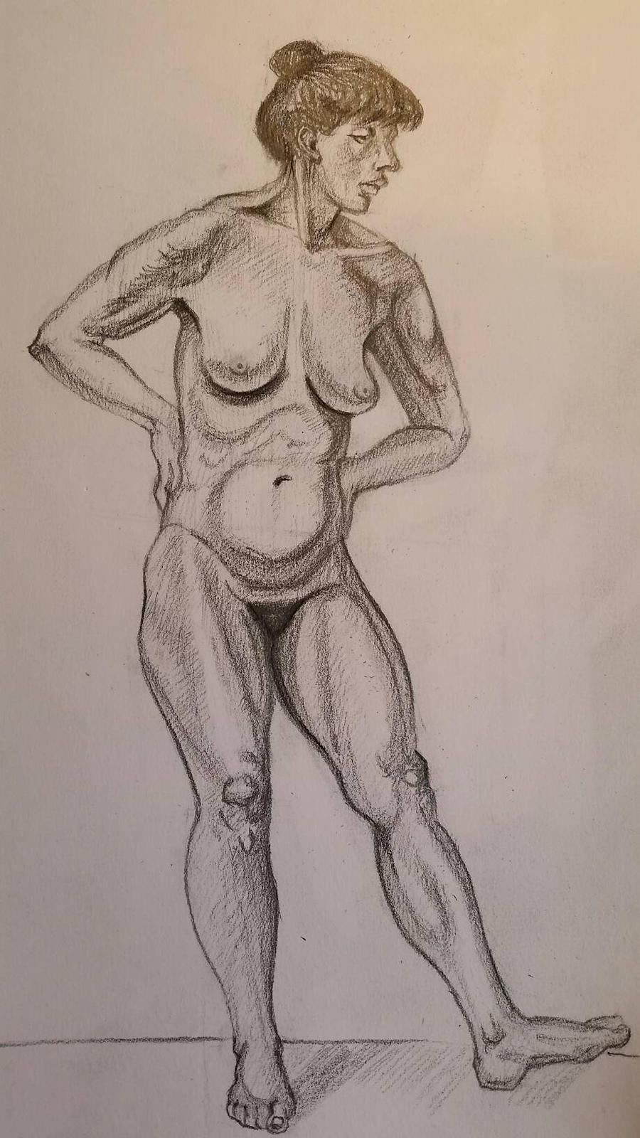nude female body  by desenez88