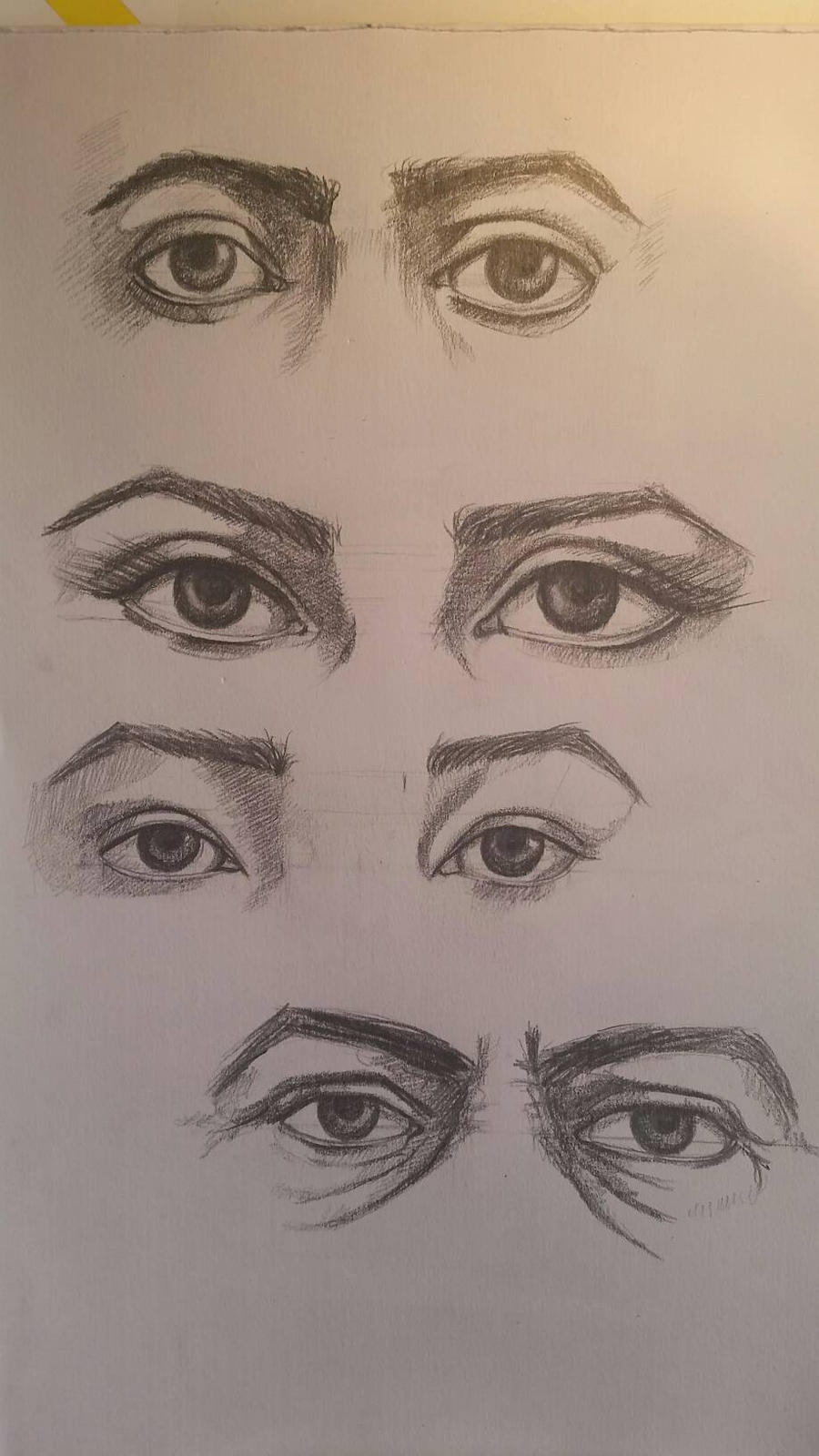 eyes drawing study by desenez88