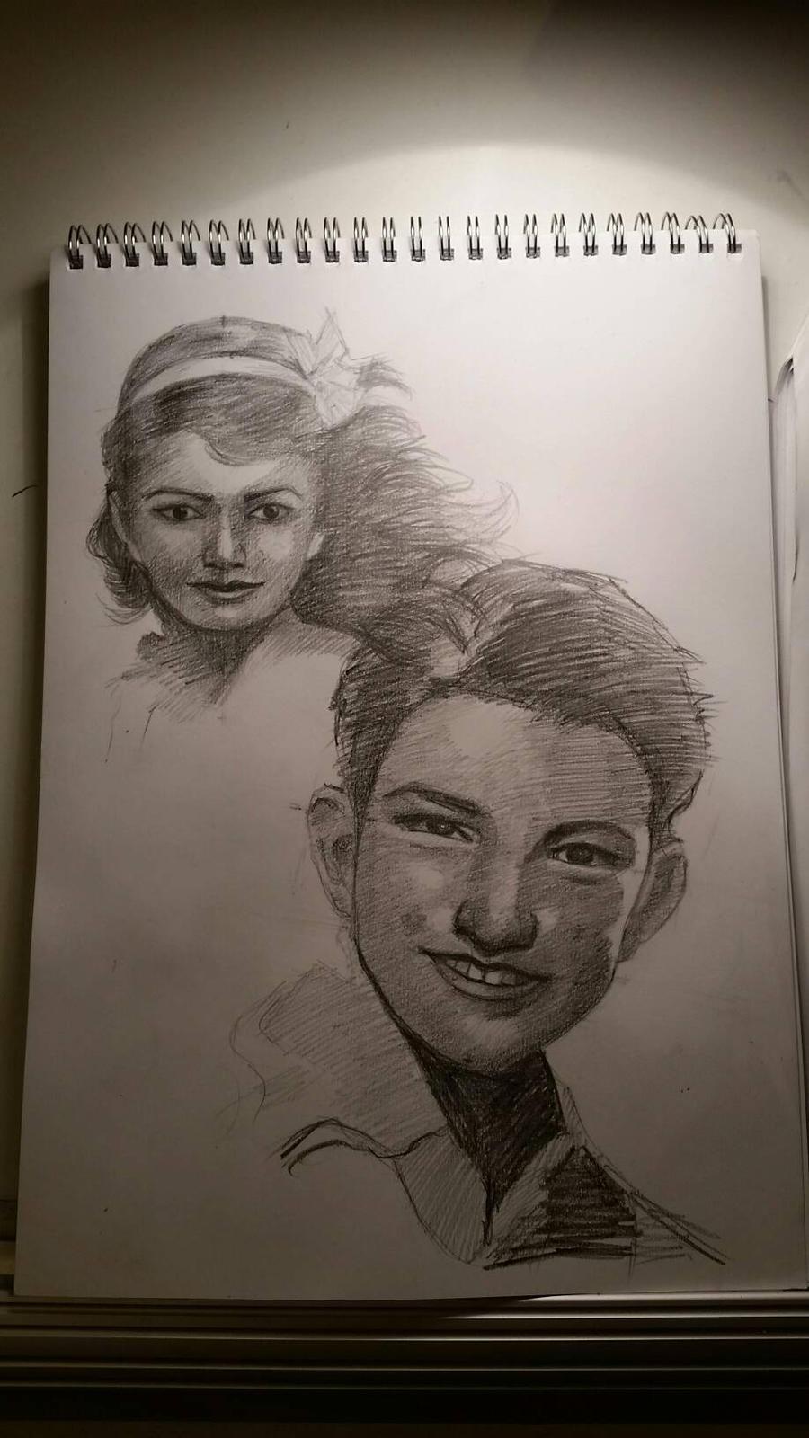 children faces study  by desenez88