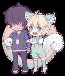 .:Doodle: Sashi and Ibuki:.