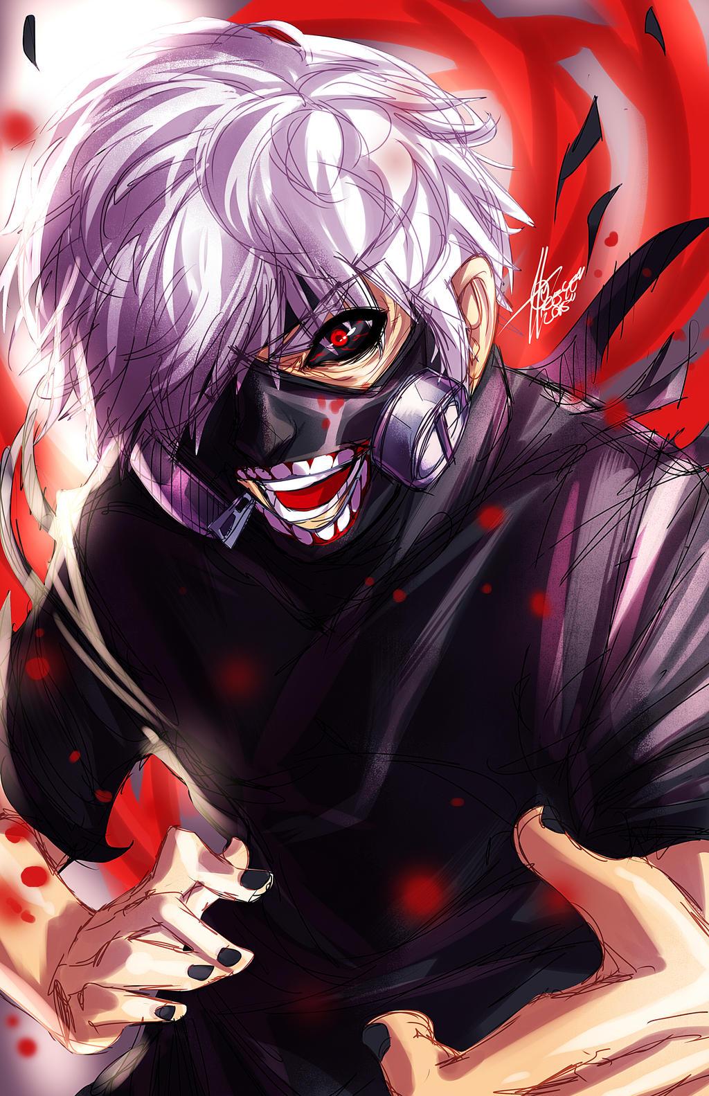 Tokyo Ghoul Ken Kaneki Fanart D By Xdtopsu01 On Deviantart