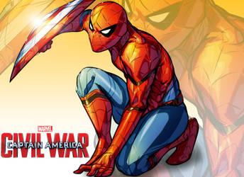 Spiderman -Cpt America: Civil War by xdtopsu01
