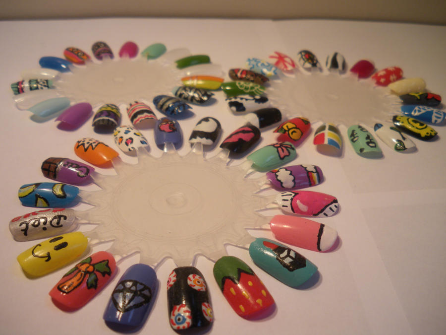 3 Nail Art Wheels. by Kimmmy on DeviantArt
