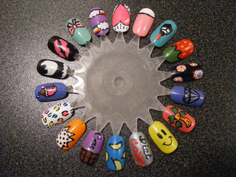Nail Art Wheel 1 by Kimmmy on DeviantArt